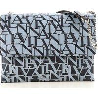Lanvin Shoulder Bag for Women On Sale, Light Blue, Leather, 2017