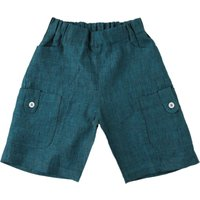 La Stupenderia Baby Shorts for Boys On Sale in Outlet, Green, linen, 2021, 12 M 6M
