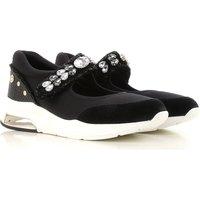Liu Jo Sneakers for Women On Sale, Black, suede, 2019, 3.5 5.5