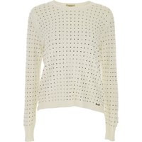 Liu Jo Sweater for Women Jumper, White, viscosa, 2019, 10 8