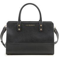 Lulu Guinness Top Handle Handbag, Black, Leather, 2019