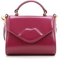 Lulu Guinness Top Handle Handbag, Bordeaux, Leather, 2019