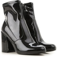 Steve Madden Boots for Women, Booties On Sale, Black, Patent Leather, 2019, 4.5 5.5
