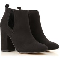 Steve Madden Boots for Women, Booties On Sale, Madden Girl, Black, suede, 2019, 4.5 6 6.5