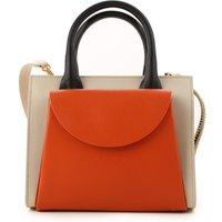 'Marni Top Handle Handbag, Clay, Leather, 2019