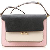 Marni Shoulder Bag for Women On Sale, Black, Leather, 2021