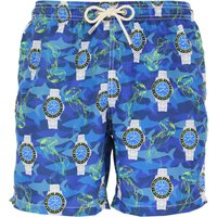 Mc2 Saint Barth Swim Shorts Trunks for Men On Sale, Electric Blue, Polyester Recycled, 2019, S M