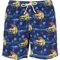 Mc2 Saint Barth Swim Shorts Trunks for Men On Sale, navy, Polyester Recycled, 2019, S L XXL XL