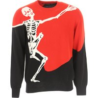 Alexander McQueen Sweater for Men Jumper On Sale in Outlet, Red, Wool, 2019, M XL