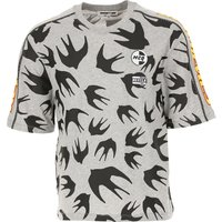 Alexander McQueen McQ T-Shirt for Men On Sale in Outlet, Melange Grey, Cotton, 2019, L M S XL