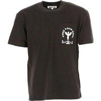 McQ Camiseta de Hombre, Negro, Algodon, 2019, M S XL
