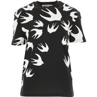Alexander McQueen McQ T-Shirt for Women On Sale, Black, Cotton, 2021, 10 6