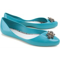 Melissa Ballet Flats Ballerina Shoes for Women On Sale, Melissa + Jason Wu, Turquoise, PVC, 2019, US