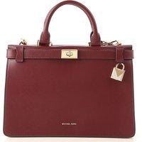 Michael Kors Top Handle Handbag, oxblood, Leather, 2019