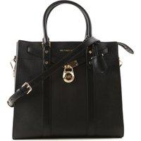 Michael Kors Tote Bag On Sale, Black, Leather, 2019