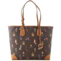 Michael Kors Tote Bag On Sale, Brown, PVC Coated, 2019
