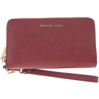 Michael Kors Wallet for Women, Red Wine, Leather, 2017
