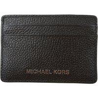 Michael Kors Card Holder for Women On Sale, Black, Leather, 2019
