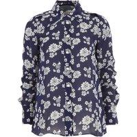 Michael Kors Camisa de Mujer, Marino
