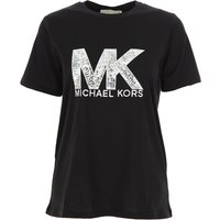 Michael Kors T-Shirt for Women, Black, Cotton, 2019, 10 12 6 8