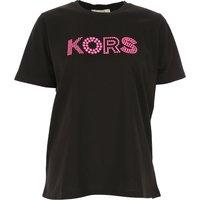 Michael Kors T-Shirt for Women, Black, Cotton, 2019, 12 8