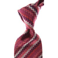 Missoni Ties On Sale, Crimson Red, Silk, 2021
