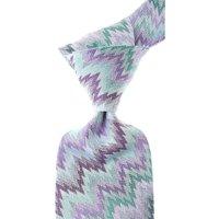 Missoni Ties On Sale, Multicolor Lilac, Silk, 2019