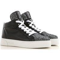 Miu Miu Sneakers for Women On Sale in Outlet, Black, Leather, 2021, 4.5 6.5