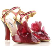 Miu Miu Sandals for Women On Sale in Outlet, Ibiscus Red, Acrylic, 2019, 3.5 4 4.5