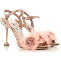 Miu Miu Sandals for Women On Sale in Outlet, Pink, satin, 2019, 2.5 7.5