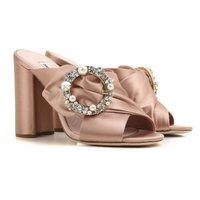 Miu Miu Sandals for Women On Sale in Outlet, Nude, satin, 2021, 2.5 3.5