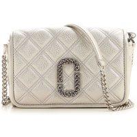 Marc Jacobs Shoulder Bag for Women On Sale, Silver, Leather, 2019