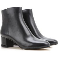 Michael Kors Boots for Women, Booties On Sale, Black, Leather, 2017, 4