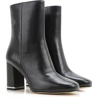 Michael Kors Boots for Women, Booties On Sale in Outlet, Black, Leather, 2017, 4