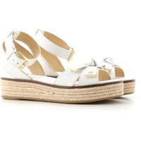 Michael Kors Sandals for Women On Sale in Outlet, White, Leather, 2021, 2.5