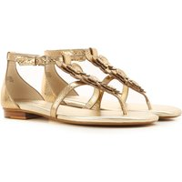 Michael Kors Sandals for Women On Sale, Gold, Leather, 2019, 4 6 7