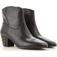 Michael Kors Boots for Women, Booties On Sale, Black, Leather, 2019, 4.5 5.5 6.5