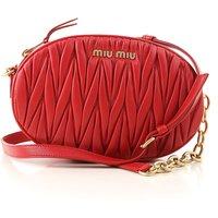 Miu Miu Shoulder Bag for Women, Red, Leather, 2019