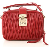 Miu Miu Shoulder Bag for Women On Sale, Red, Leather, 2019
