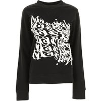 Maison Margiela Sweatshirt for Women On Sale, Black, Cotton, 2019, 6 8