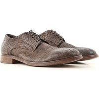 Moma Lace Up Shoes for Men Oxfords, Derbies and Brogues On Sale, Dark Brown, Leather, 2019, 6.5 7