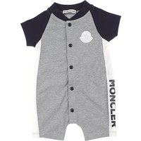 Moncler Baby Bodysuits & Onesies for Boys, Grey, Cotton, 2019, 3M 6M