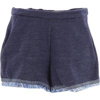 Moncler Kids Shorts for Girls On Sale in Outlet, Blue Denim, Cotton, 2019, 5Y 6Y