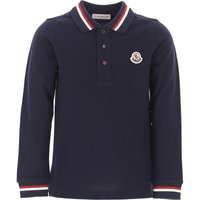 Moncler Kids Polo Shirt for Boys On Sale, Blue, Cotton, 2019, 12Y 4Y
