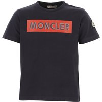 Moncler Kids T-Shirt for Boys On Sale, Blue, Cotton, 2019, 10Y 12Y 8Y