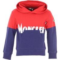 Moncler Kids Sweatshirts & Hoodies for Boys On Sale, Red, Cotton, 2019, 10Y 12Y 4Y 5Y 8Y