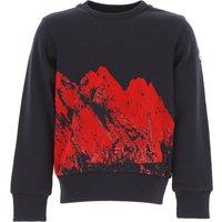 Moncler Kids Sweatshirts & Hoodies for Boys On Sale, Blue, Cotton, 2019, 12Y 4Y 5Y