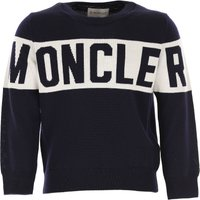 Moncler Kids Sweaters for Boys On Sale, navy, Virgin wool, 2019, 10Y 12Y 4Y 6Y 8Y