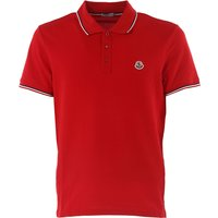 Moncler Polo Shirt for Men, Red, Cotton, 2019, L S XL XXL