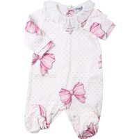 Monnalisa Baby Bodysuits & Onesies for Girls On Sale, Cream, Cotton, 2019, 1M 3M